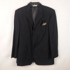 Pronto Uomo Men's Blazer 44 Long Italy Made Wool